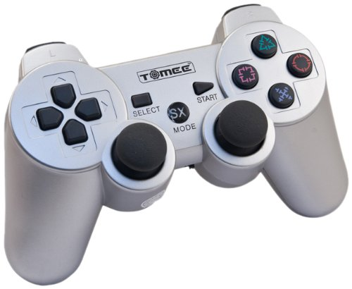 PS3 Tomee Wireless Controller - Silver PS3