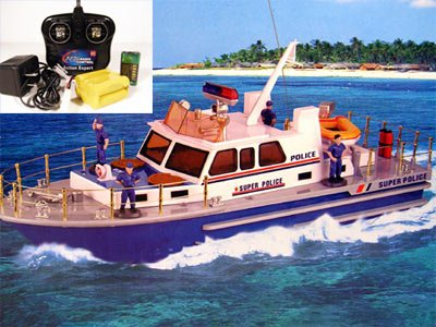 """21"""" R/C Super Police Boat Radio Controlled Electric"""