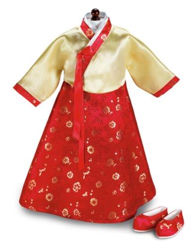 "Korean Hanbok & Shoes ~ fits 18"" American Girl Dolls"