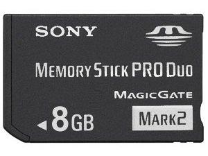 8 GB Sony PRO DUO (Mark 2) Memory Stick for Sony PSP