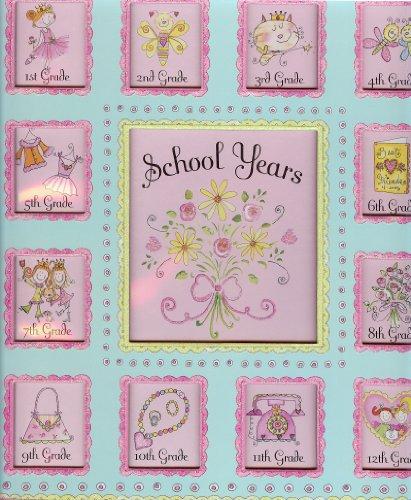 DELUXE PINK SCHOOL MEMORIES KEEPSAKE PHOTO ALBUM