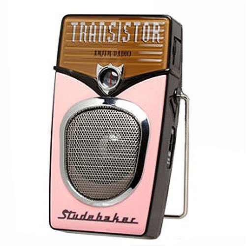 Studebaker AM/FM Pink/Black Pocket Radio - SB7803