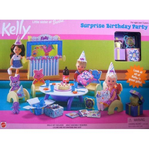 Kelly Little Sister of Barbie Doll Surprise Birthday