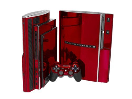 PlayStation 3 Skin (PS3) - NEW - RED CHROME MIRROR PS3