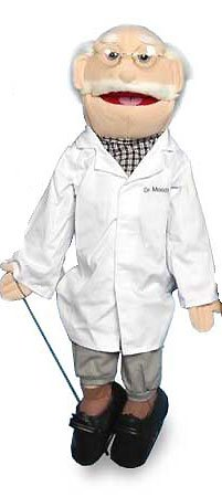 """Sunny Puppets 28"""" Grandpa - Doctor Puppet"""