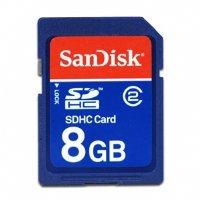 SanDisk 8 GB Class 2 SDHC Flash Memory Card