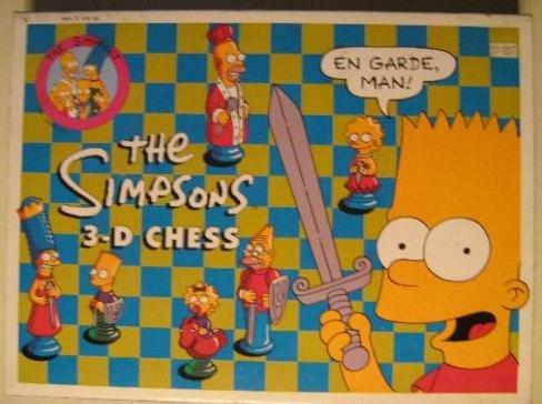Simpsons 3-D Chess Set