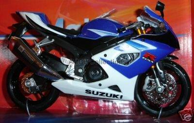 Suzuki Motorcycle GSX-R1000 Blue/White 1:12