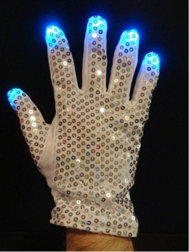 LED Flashing Multi-mode Silver Glitter Multicolor