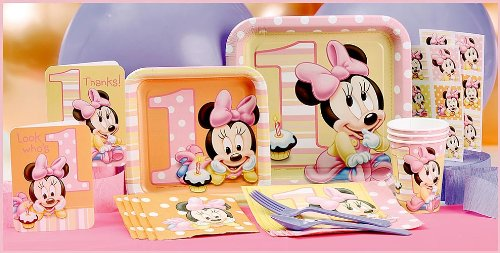 Minnie Mouse 1st Birthday Party Supplies Tableware for