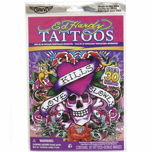 Ed Hardy Temporary Tattoos, Style 2 of 4, Over 30