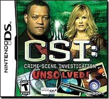 CSI: Unsolved Nintendo DS
