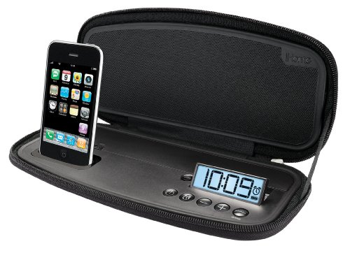 iHome iP38 Portable Stereo Alarm Clock for iPod and