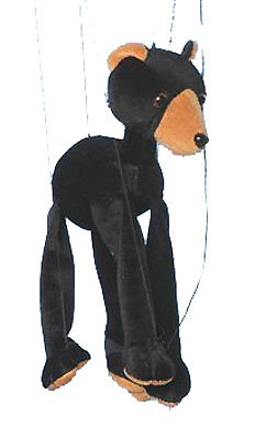 Sunny Black Bear Marionette - Baby