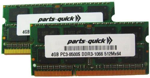 8GB 2X 4GB PC3-8500 1067MHz DDR3 APPLE RAM MEMORY