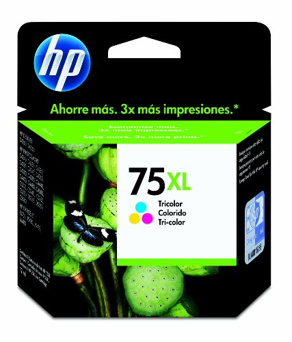 Original HP 75XL Tricolor Ink Cartridge in Windows