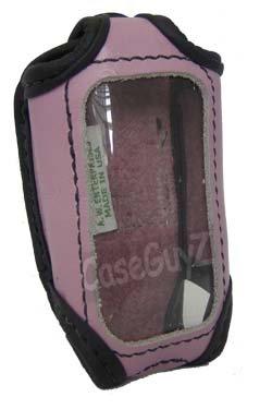 Car Alarm Remote Case Pink Leather (FitsPython 881XP,