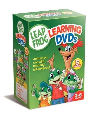 Leapfrog Learning DVDs 5-Pack (Talking Words Factory /