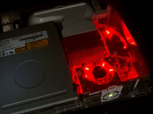 XCM CORE COOLER V2 - TWIN FANS - RED LED Xbox 360