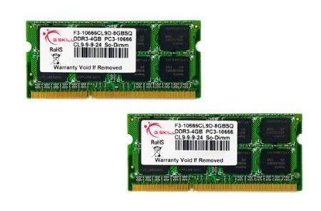 G.Skill SQ Series - Memory - 8 GB : 2 x 4 GB - SO DIMM
