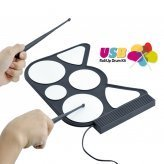 USB Roll Up Drum Kit for Free Play or Learning Game