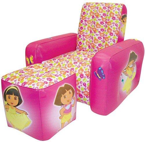 Child's Dora the Explorer Chair and Ottoman