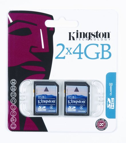 Kingston 4 GB Class 4 SDHC Flash Memory Card 2-Pack