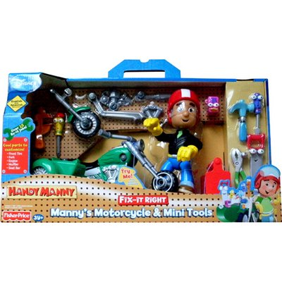 Handy Manny Fix-it Right Motorcycle and Tool Rack