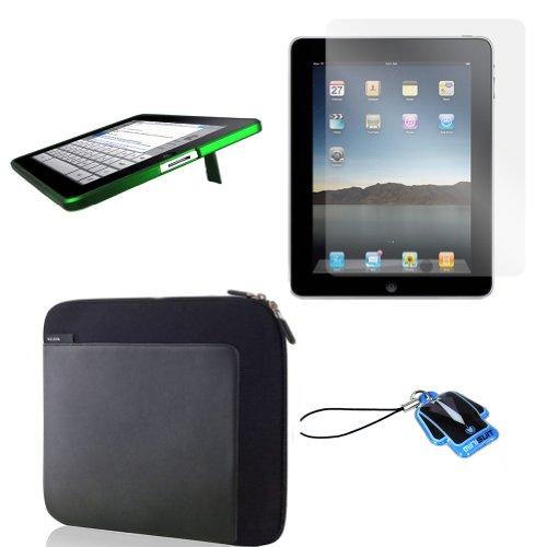 (Green Kick) Apple iPad skin silicone case / leather