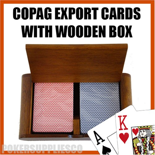 Copag Wooden Box Set with Export Jumbo Index and Wide