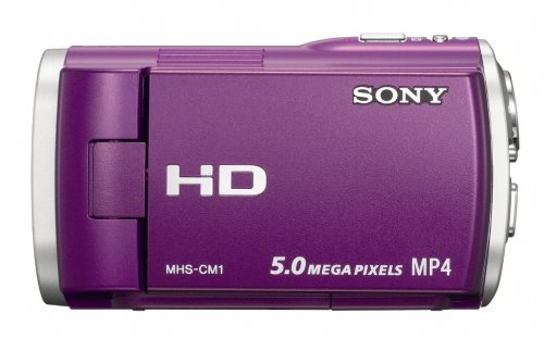 Sony Webbie MHS-CM1 HD Camcorder (Purple)