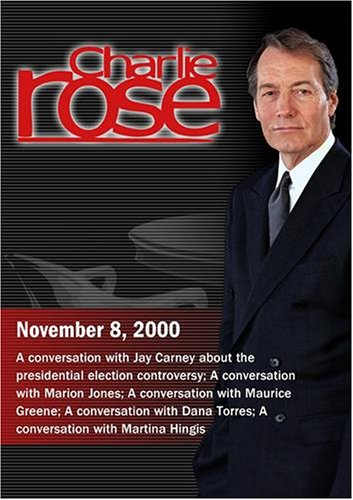 Charlie Rose with Jay Carney; Marion Jones; Maurice