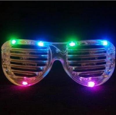 FLASHING LIGHTS SHUTTER SHADE STYLE PARTY SUNGLASSES