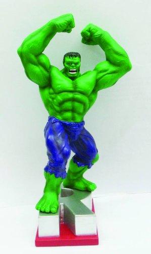 """Marvel Resin Figures - Hulk on Letter Base """"R"""""""