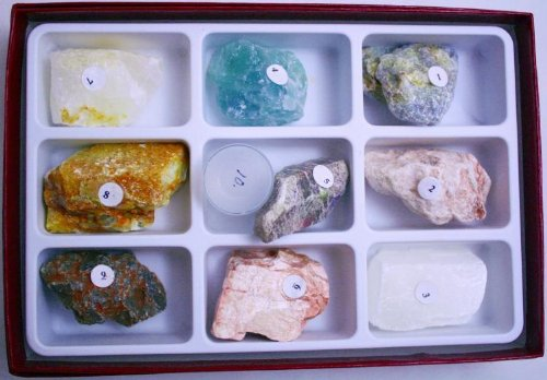Mohs Scale of Hardness w/ Diamond Rock Mineral