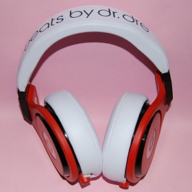 Monster Beats Pro White and Red Over-Ear Headphone