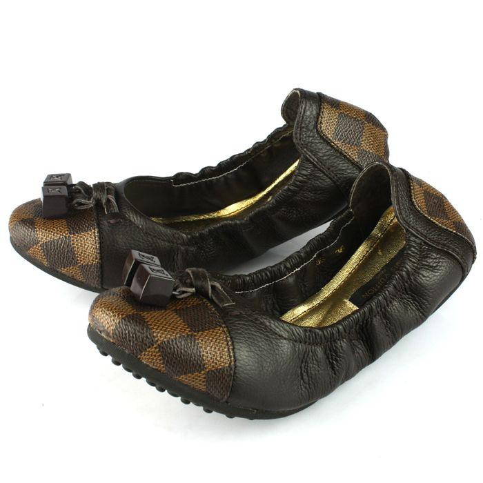 New Louis Vuitton Damier Canvas Shoes 089