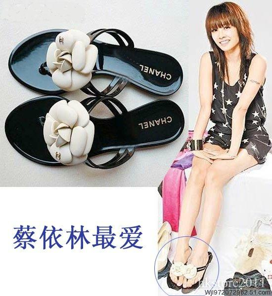 Chanel CC Womens Camellia Casual Shoes Sandals Slippers flower shoe