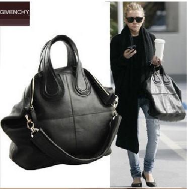 womens Givenchy Nightingale Satchel Handbag Medium Bag Black purse