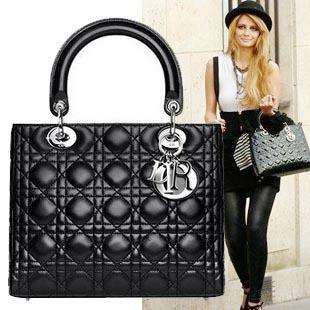 Christian Dior women's vernis bag handbag tote purse silver hardware