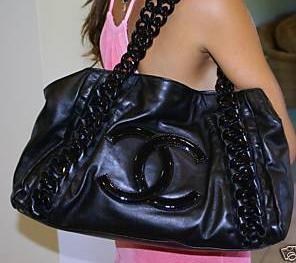 Chanel CC womens shoulder bag tote handbag purse in black brand new