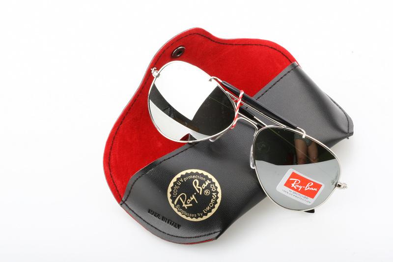 Rayban ray ban womens mens 3029 sunglass sunglasses silver mirror
