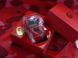 womens mens Casio Nib Bape G Shock Dw6900 Watch wristwatch red