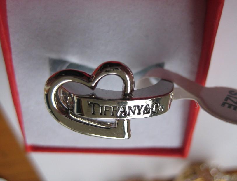 Tiffany & co silver ring womens girls heart design ring