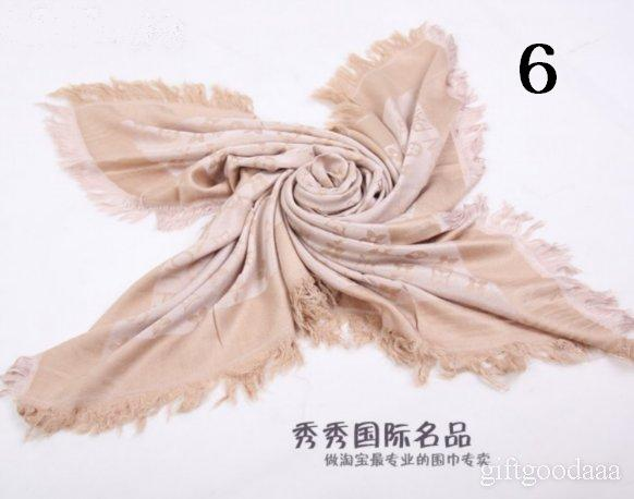 Louisvuitton LV Monogram Denim shawl Scarf pashmina scarves wrap beige