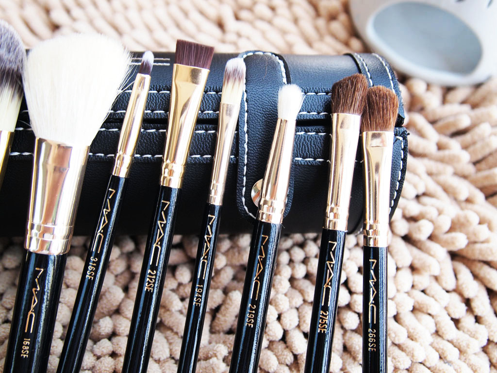 9pcs mac black brushes brush womens girls make up makeup cosmetics
