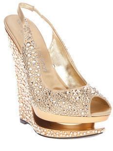 2012GIANMARCO LORENZI diamond fine high-heeled shoes