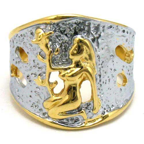 women girl pretty tfashion 14k yellow gold filled zircon wedding ring