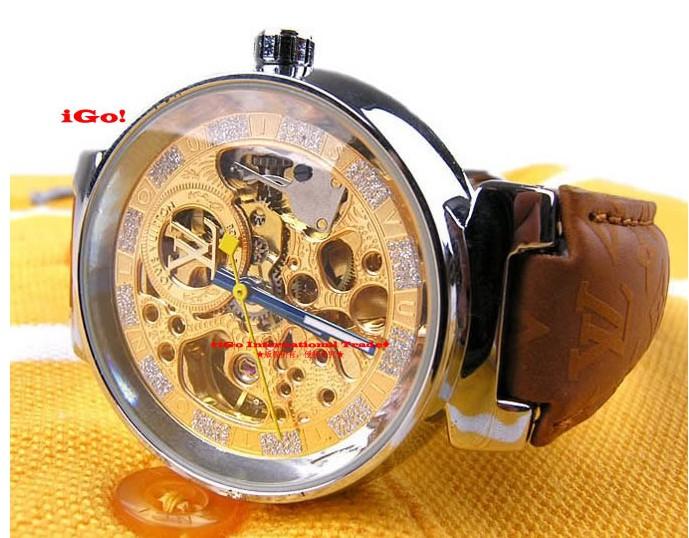 .Louis Vuitton Mens Womens Yellow Belt Watch Watches