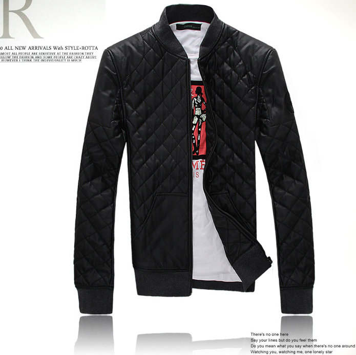 GUCCI men's casual leather jacket 01
